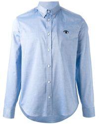 Kenzo 'Eye' Button Down Shirt - Lyst