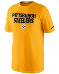 Nike Men'S Pittsburgh Steelers Foundation T-Shirt - Lyst
