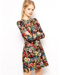 Love Moschino Short Dress red - Lyst