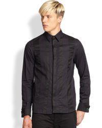 Diesel Black Gold Paneled Tuxedo Shirt - Lyst