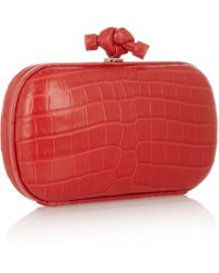 Bottega Veneta The Knot Crocodile Clutch - Lyst
