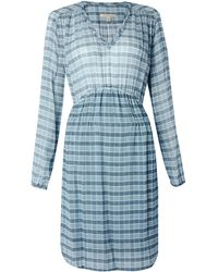 Burberry Brit Marie Check Silk Dress - Lyst