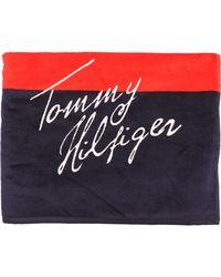 Tommy Hilfiger Flag Navy Beach Towel - Lyst