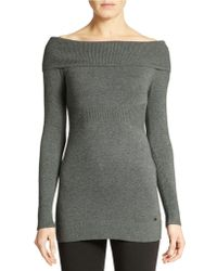 Guess Off Shoulder Carly Tunic - Lyst