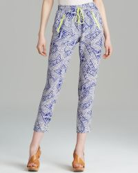 Dolce Vita - Trousers - Gerra Block Print Silk - Lyst