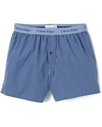 Calvin Klein Woven Slim Fit Boxers - Lyst
