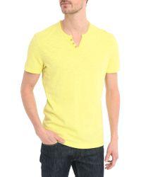 Harris Wilson Wasabi Button-Neck Cotton-Jersey T-Shirt - Lyst
