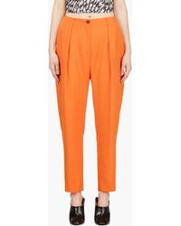 Mugler Orange Low Waist Oversize Trousers - Lyst