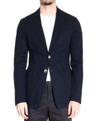 Giorgio Armani Blue Jackets Man - Lyst