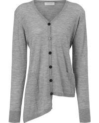 Wunderkind Grey Cashmere Silk Cardigan - Lyst