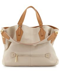 Halston Heritage Beverly Convertible Hobo Bag Camel - Lyst