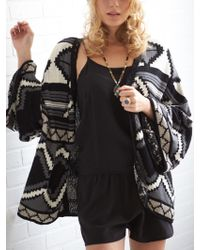 House Of Harlow Camden Bed Jacket - Lyst