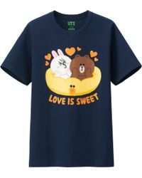 Uniqlo Men Line Friends Graphic Short Sleeve T Shirt - Lyst