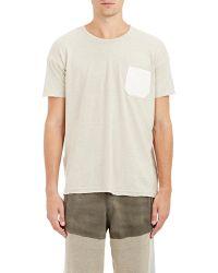 Longjourney - Denim-pocket T-shirt - Lyst