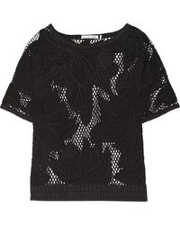 Etoile Isabel Marant Calice Floral-Embroidered Crocheted Cotton Top - Lyst