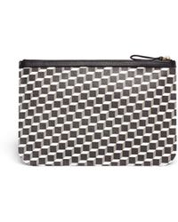 Pierre Hardy Leather Trim Large Cube Pattern Zip Pouch - Lyst