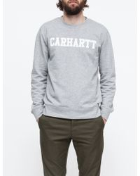 Carhartt Wip College Sweatshirt gray - Lyst