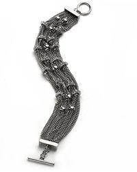 ABS By Allen Schwartz - Crystal Embellished Multi-chain Bracelet - Lyst