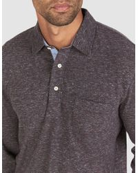 Faherty Brand - Long-sleeve Luxe Heather Polo - Lyst