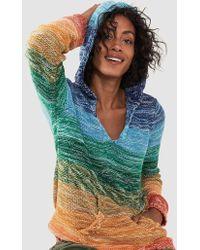 Faherty Brand Rainbow Jumper Poncho