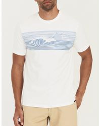 Faherty Brand - Men's Wave-print T-shirt - Lyst