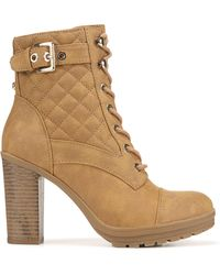 G by Guess Gift Lace Up Booties - Natural