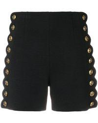 Chloé - Buttoned High Waist Shorts - Lyst
