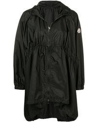 Moncler Oversized-Mantel mit Kapuze