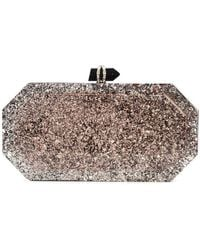 Marchesa - Marbeled Box Clutch Bag - Lyst