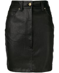 Versace Jeans - Short Fitted Skirt - Lyst