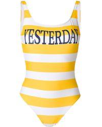 Alberta Ferretti | Striped Swimsuit | Lyst