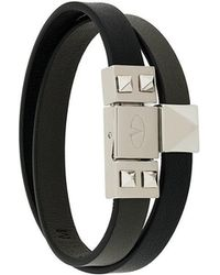 Valentino - Leather Double Bracelet - Lyst