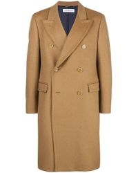 Department 5 - Double Breasted Coat - Lyst