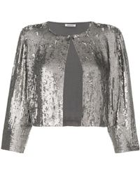 P.A.R.O.S.H. - Sequin Cropped Jacket - Lyst