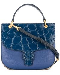95e5148548f Tory Burch Studded T Satchel in Green - Lyst