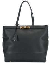 Moschino - Logo Plaque Tote - Lyst