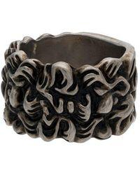 Gucci - Кольцо Шириной 15 Мм Гравированного Дизайна - Lyst