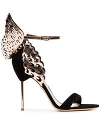 Sophia Webster - Black Evangeline 100 Wing Suede Sandals - Lyst
