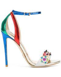Gianni Renzi - Studded High Heel Sandals - Lyst