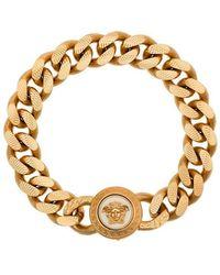 Versace - Gold Medusa Chain Bracelet - Lyst