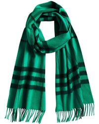 Burberry - Cashmere Overdyed Check Scarf - Lyst