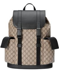 26ff345c749 Gucci GG Supreme Backpack With Angry Cat in Black for Men - Lyst