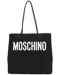 Moschino - Large Canvas Logo Tote - Lyst