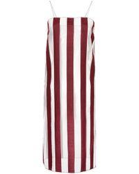G.v.g.v - Sheer Organza Striped Dress - Lyst