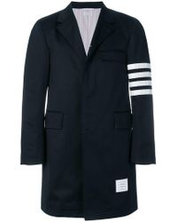 Thom Browne - Unconstructed 4-bar Stripe Classic Chesterfield Overcoat - Lyst