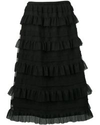 RED Valentino - Ruffle Tiered Skirt - Lyst