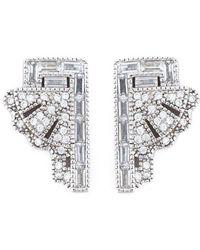 V Jewellery - 'deco Fan' Earrings - Lyst