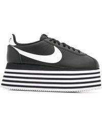 Comme des Garçons - Zapatillas a rayas con plataforma de x Nike - Lyst