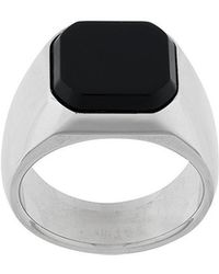 DSquared² - Octagonal Inset Signet Ring - Lyst