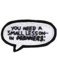 Olympia Le-Tan - You Need A Small Lesson In Manners Patch - Lyst
